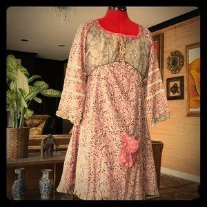 NWT Ian mosh lagenlook pink designer dress Spain